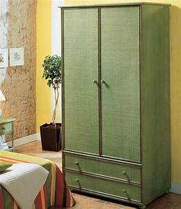 Armoire Deux Portes : armoire deux portes en rotin brin d 39 ouest ~ Teatrodelosmanantiales.com Idées de Décoration