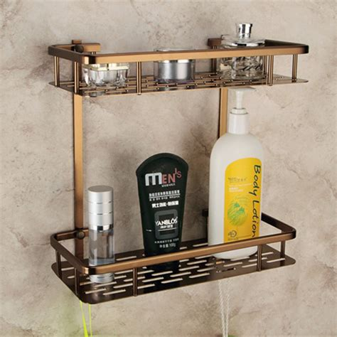 europe antique bathroom shelves double layer towel rack