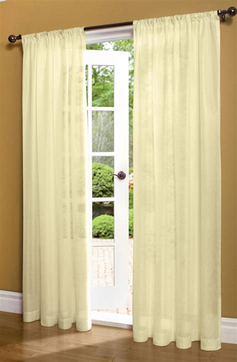 insulated rod pocket sheer curtain panel 50 quot wide