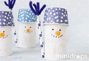 Basteln Winter Kinder : schneemann aus toilettenpapierrolle basteln ganz einfach ~ Frokenaadalensverden.com Haus und Dekorationen