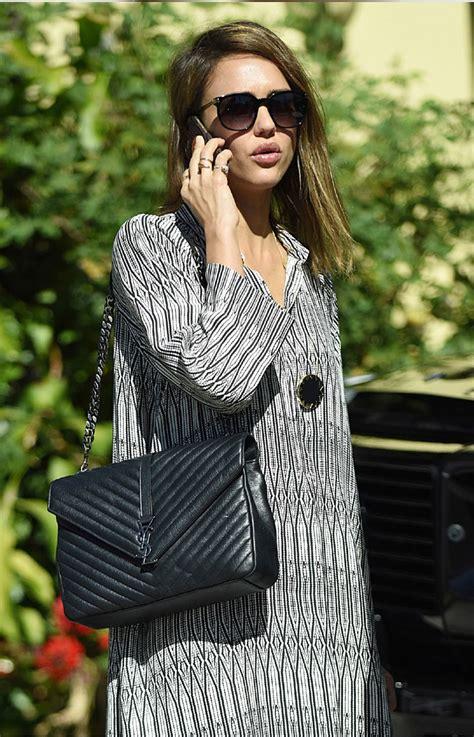 celebrities carry  saint laurent classic monogram bag bragmybag