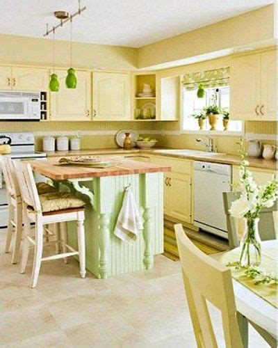 yellow  green country style kitchen  love  wall