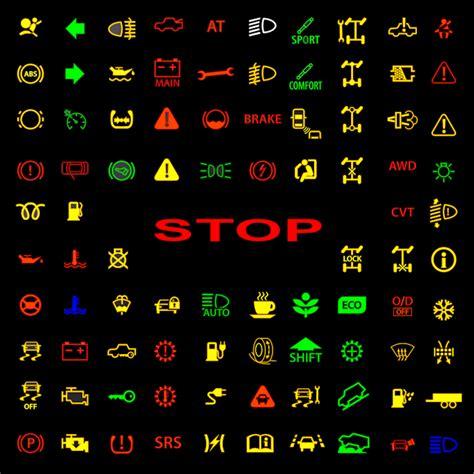 symbole de tableau de bord de voiture voitures