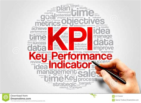 key performance indicator stock photo image  executive