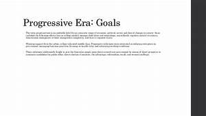 The Progressive Era (1890-1920)