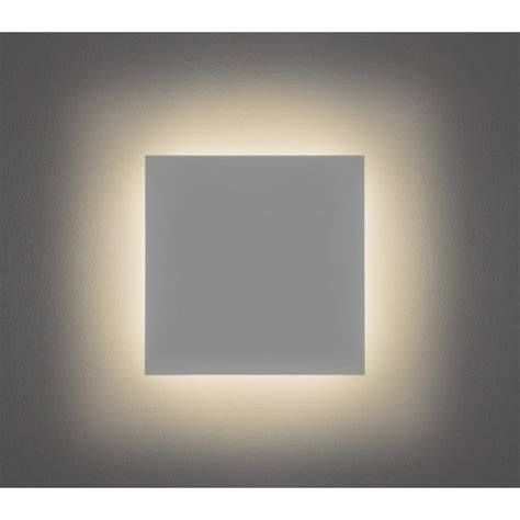 astro lighting eclipse ceramic square 300 single light led wall fitting in white finish