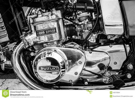 Engine Of The First Japanese Motorcycle With A Liquid