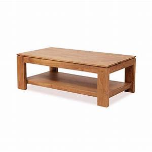 Table Basse Rectangulaire Bois Guntur 130 Cm 3504