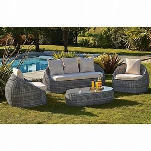 Salon De Jardin 5 Places Pas Cher : salon de jardin resine tressee gris ~ Melissatoandfro.com Idées de Décoration