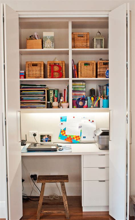 10 Ideas To Brings Office Into Your Closets  Small House