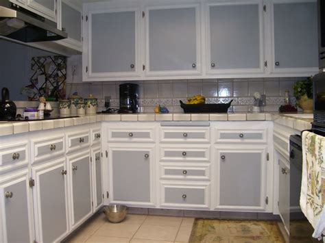 Two Tone Kitchen Cabinets Grey And White Dark Color