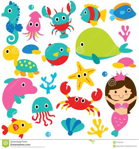 sea creatures clipart clipart sea animal pencil and in color clipart