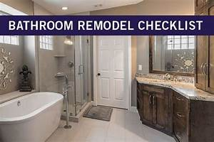Bathroom Remodeling Checklist  A Step By Step Guide