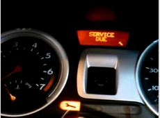 How to reset a service indicator, light on a 2006 Renault