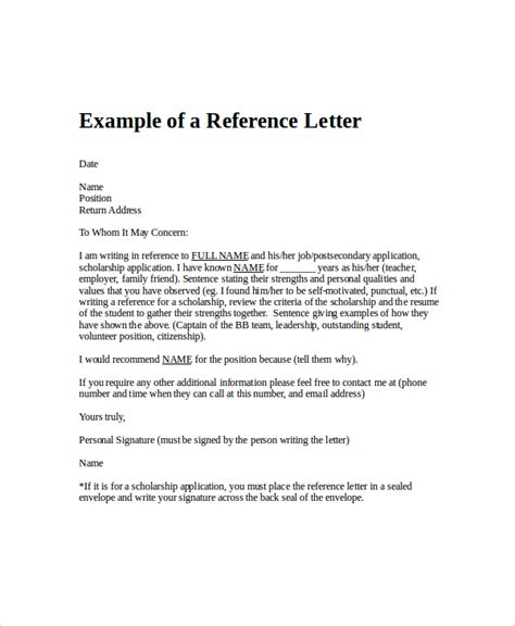employment reference letter 8 free word excel pdf