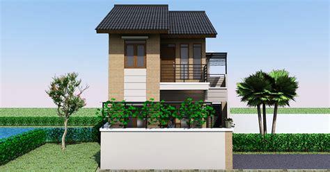 desain rumah minimalis  lantai  dinding ekspose