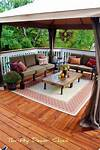 Store-bought gazebo on deck instead of building a cover outdoor patio decorating ideas