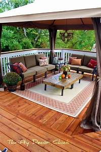 deck furniture ideas Store-bought gazebo on deck instead of building a cover ...