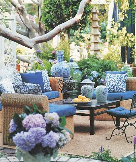 blue patio ideas chair cushions and pillows maximum comfort for the outdoor furniture