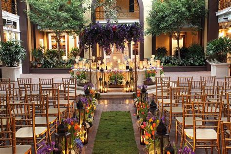 Gorgeous French Quarter Courtyard Wedding Ceremony At