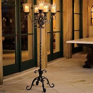 La Scala Floor Candelabra - Traditional - Candleholders