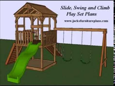 play set swingset plans easy  follow step  step youtube