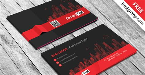real estate agent business card template psd designyep