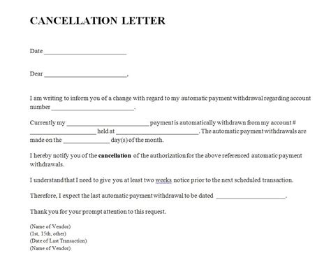 Insurance Cancellation Request Form