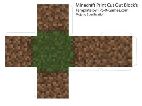 Minecraft Grass Dirt Block Template Cut Out