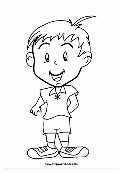 Coloring Sheets Child Happy Kid Sheet Megaworkbook