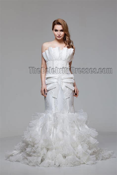 celebrity inspired strapless mermaid wedding dress