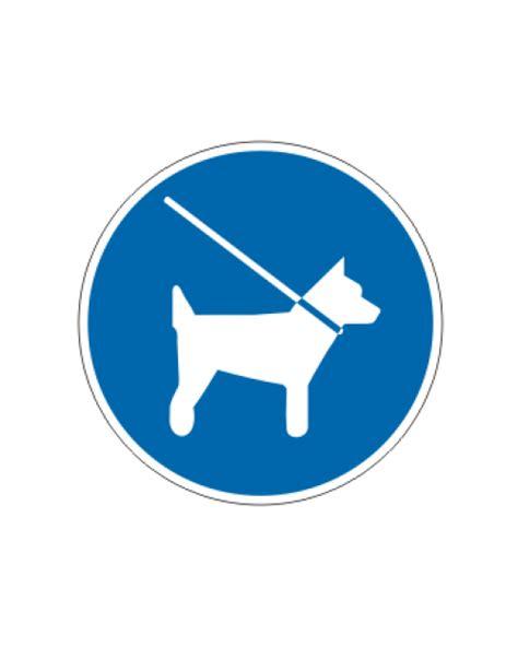 gebotsschild hunde muessen  die leine