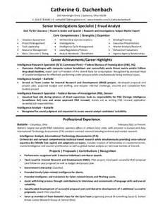 fraud analyst resume sles resume