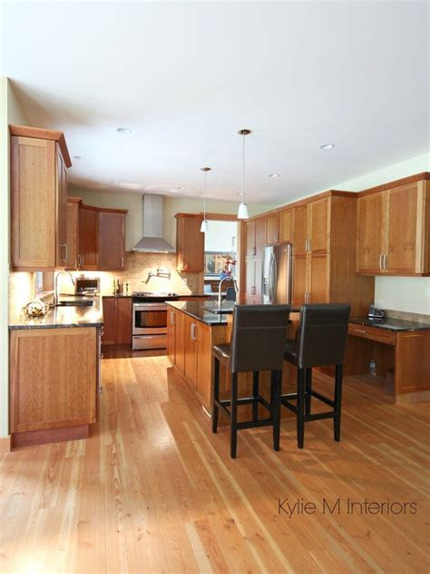 Kitchen with island, natural cherry cabinet, fir wood