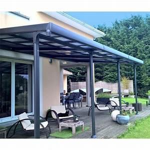 Pergola Toit Coulissant : tonnelle adoss e aluminium toit polycarbonate 3 5x6 m azura gamm vert ~ Melissatoandfro.com Idées de Décoration