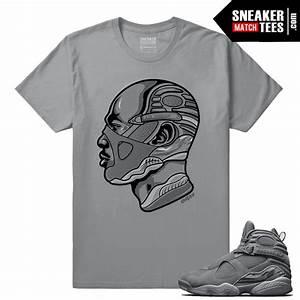 Air Jordan Retro 8 Cool Grey Sneaker Tees Streetwear