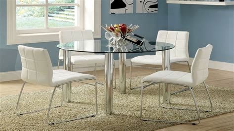 Glass Dining Table by White Breakfast Table Set Dining Table Glass Top Dining