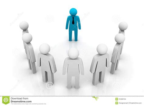 group leader concept stock images image