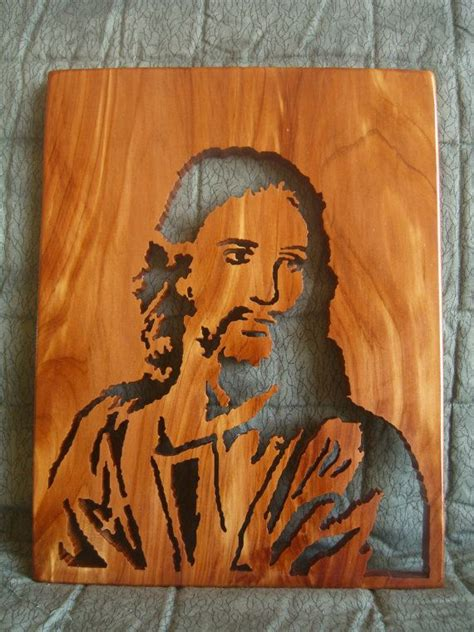 jesus wood carving   home wood crafts wood art