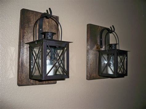 Rustic Candle Lantern Sconces Wall Decor Wall Sconce And
