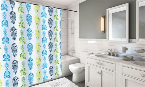 Extra-long Fabric Shower Curtain