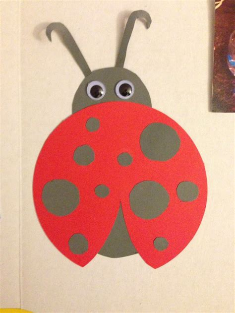 lady bug construction paper  images animal