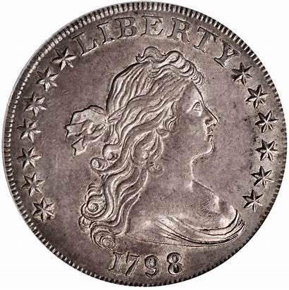 Dollar 1798 Bb Silver Bust Draped Coin