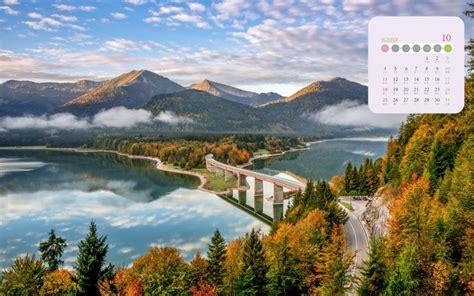 2020年10月充满诗意的秋天写真日历,高清图片,电脑桌面-壁纸族