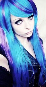 Purple And Blue Scene Hair Wwwimgkidcom The Image