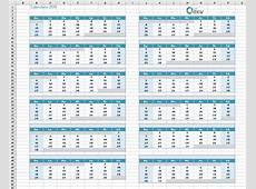 Calendario 2019 en Excel Plantilla de Excel del