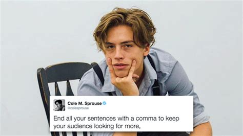 life changing lessons  cole sprouses twitter