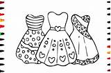 Coloring Dresses Pages Drawing Pretty Princess Colouring Sheets Simple Printable Barbie Getcolorings Getdrawings Paintingvalley sketch template