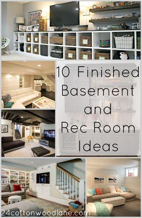 finished basement  rec room ideas basement