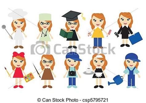 12202 different professions clipart different clipart